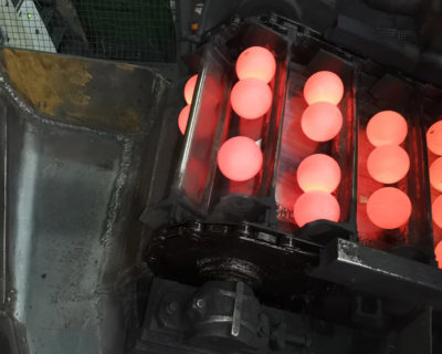 Chain Lubrication in a Ball Rolling Mill